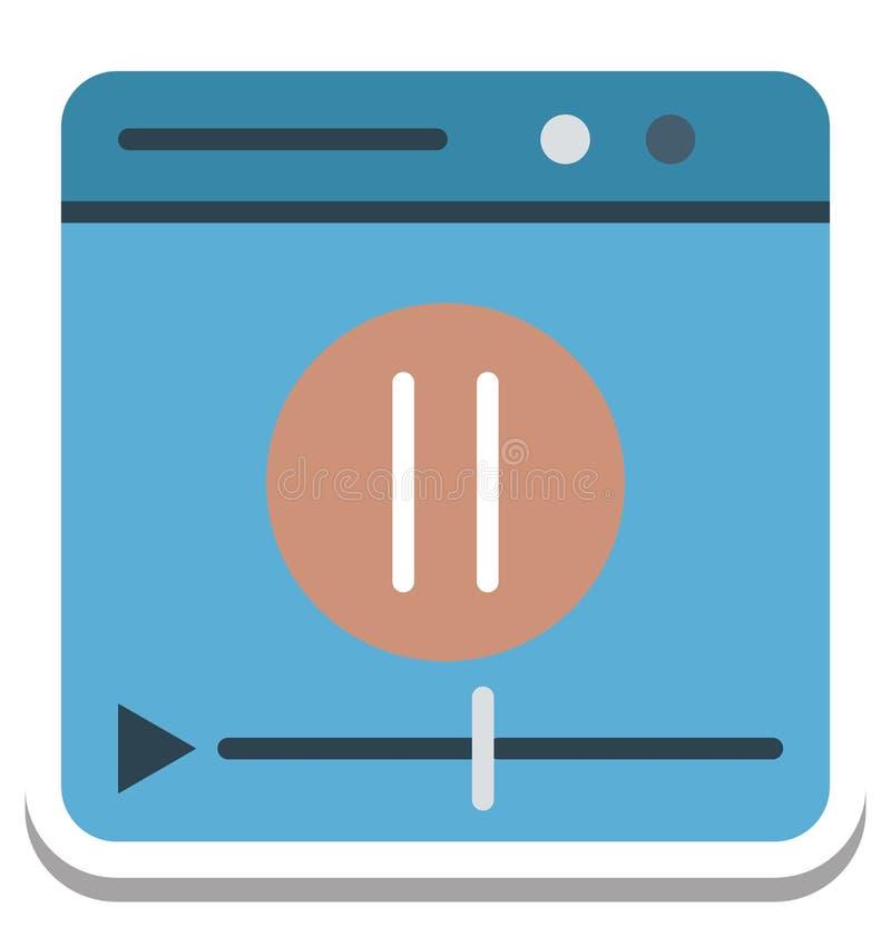 Jugador de película, icono aislado del vector del vídeo libre illustration