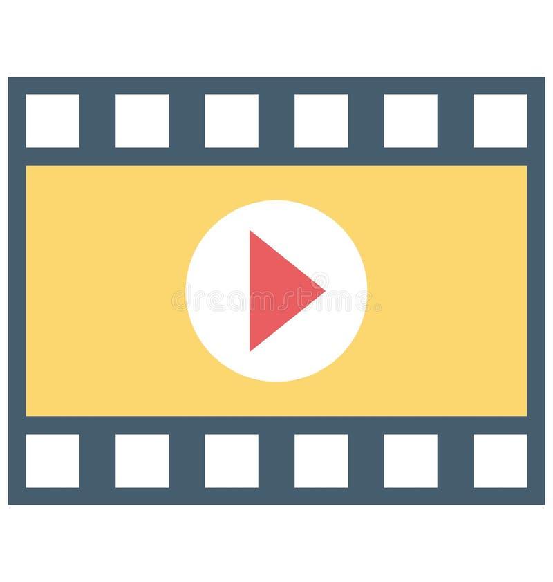 Jugador de película, icono del vector del vídeo stock de ilustración