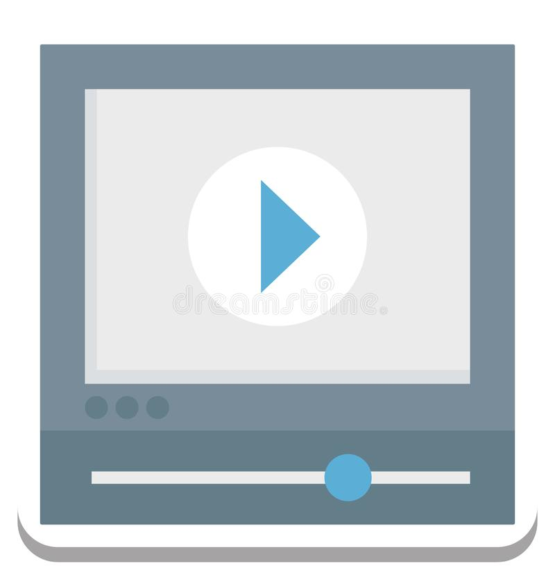 Jugador de película, icono del vector del vídeo editable stock de ilustración