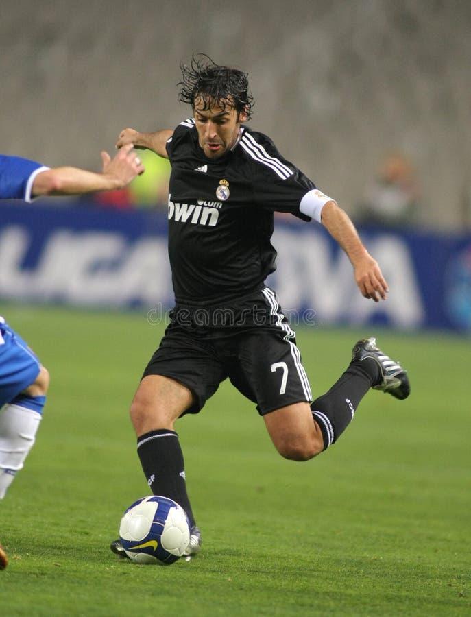 Jugador de Raúl González Real Madrid fotos de archivo