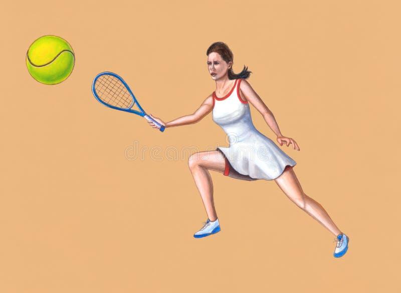 Download Jugador de tenis stock de ilustración. Ilustración de flotador - 1294620