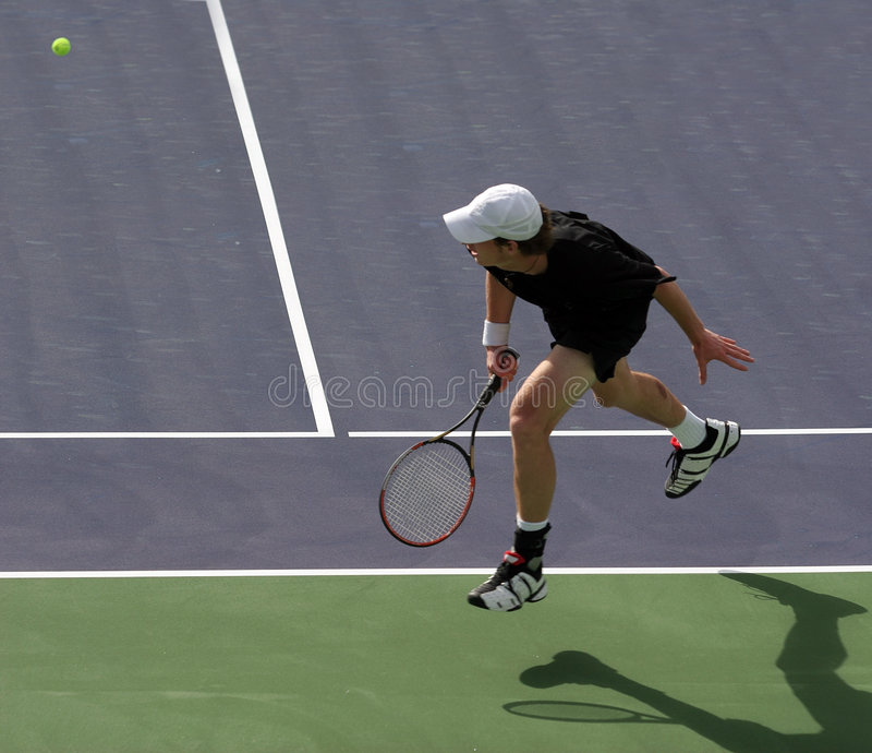 Jugador de tenis imagen de archivo