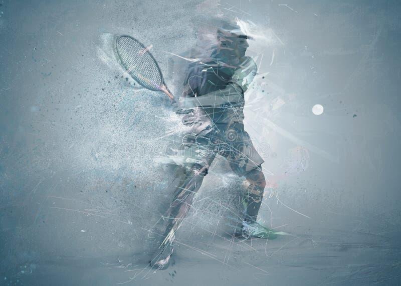 Jugador de tenis abstracto foto de archivo
