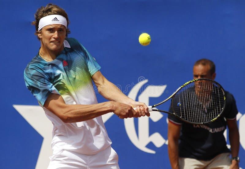 Jugador de tenis alemán Alexander Zverev Jr foto de archivo libre de regalías