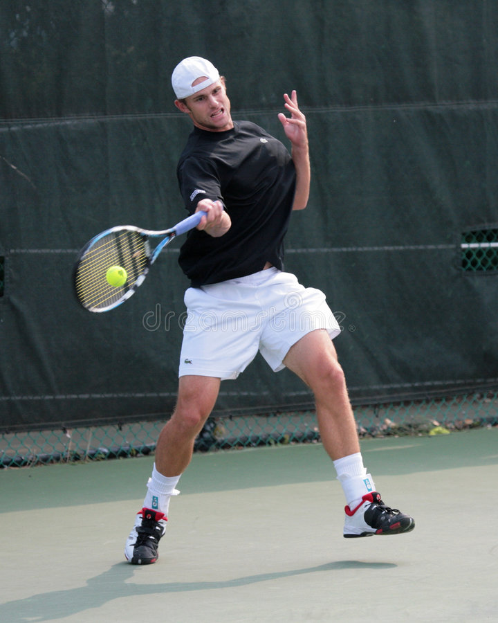 Jugador de tenis Andrés Roddick fotografía de archivo