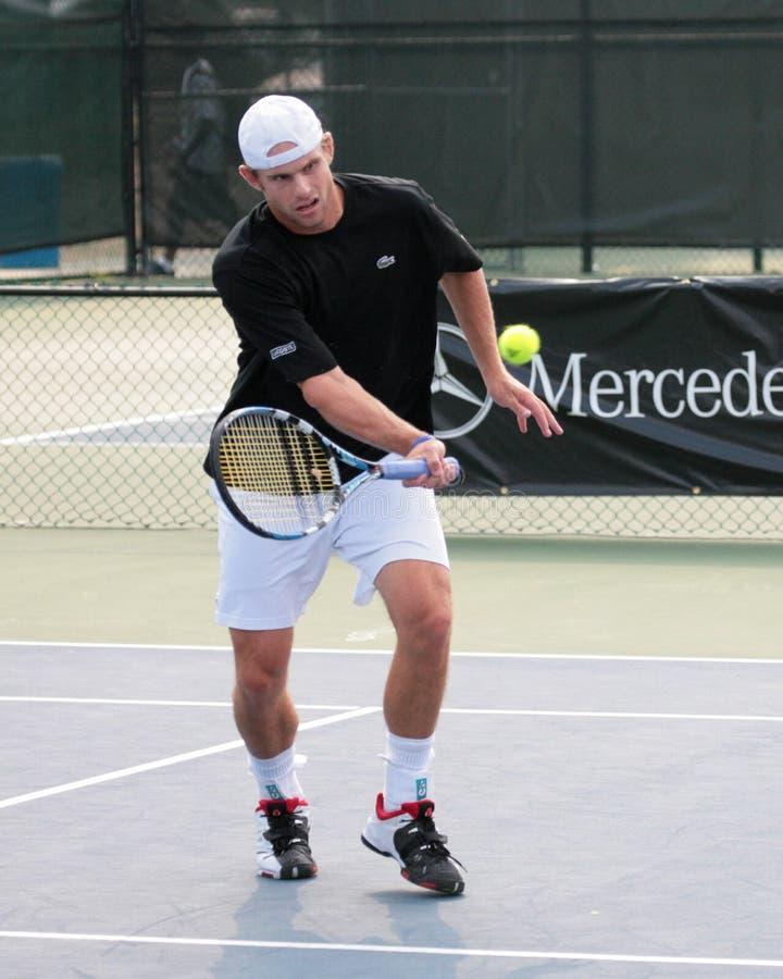 Jugador de tenis Andrés Roddick fotos de archivo libres de regalías