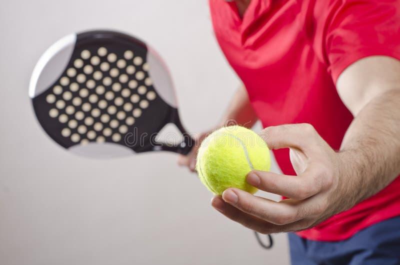 Jugador de tenis de la paleta fotos de archivo libres de regalías