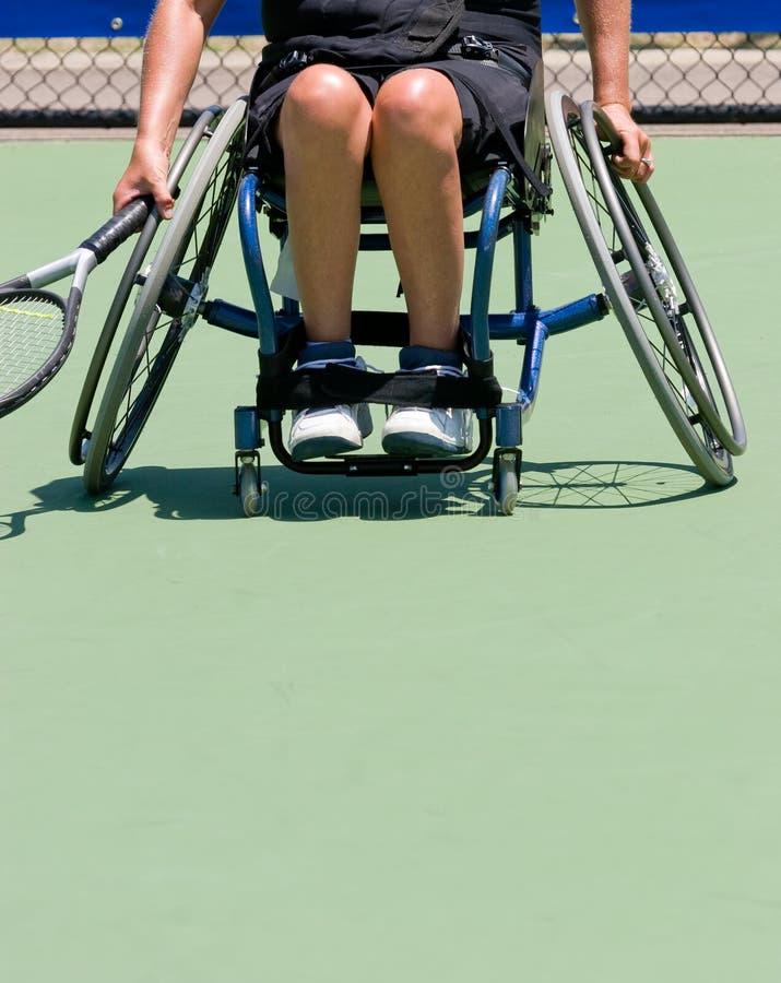 Jugador de tenis de la silla de ruedas fotografía de archivo