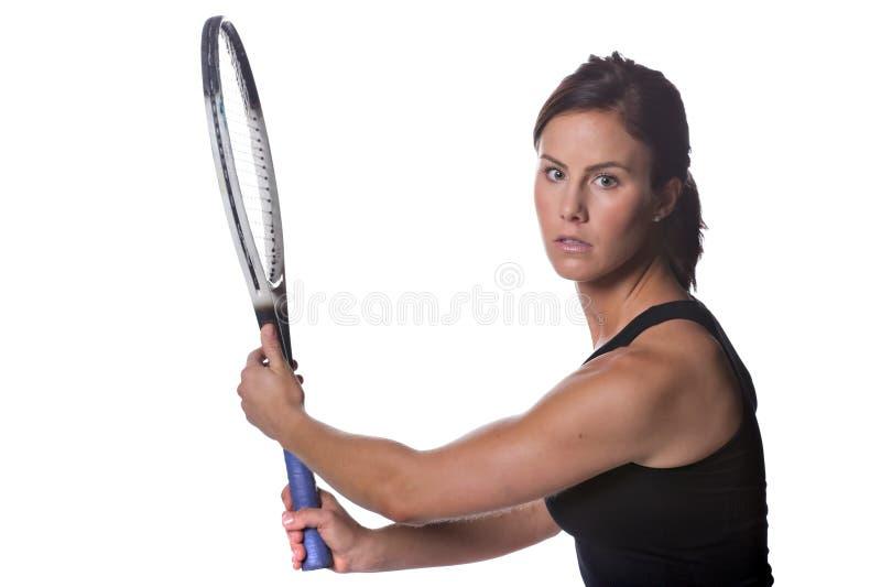 Jugador de tenis de sexo femenino imágenes de archivo libres de regalías
