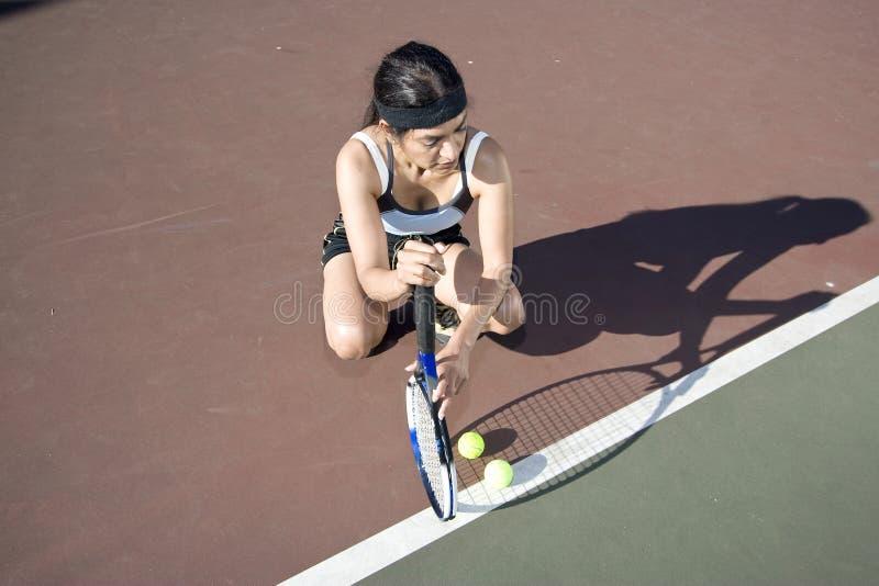 Jugador de tenis de sexo femenino imagen de archivo libre de regalías