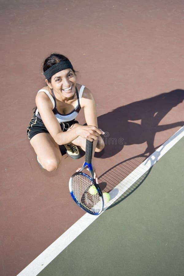 Jugador de tenis de sexo femenino fotos de archivo
