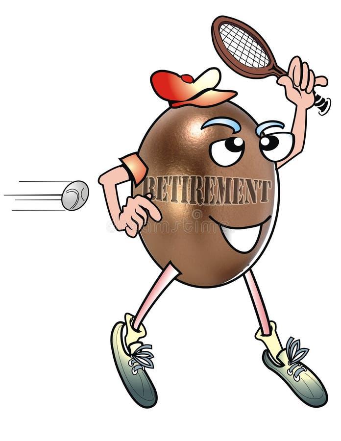 Jugador de tenis del retiro. ilustración del vector