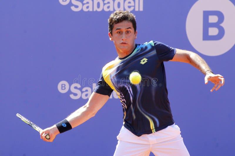 Jugador de tenis español Nicolás Almagro imagen de archivo libre de regalías