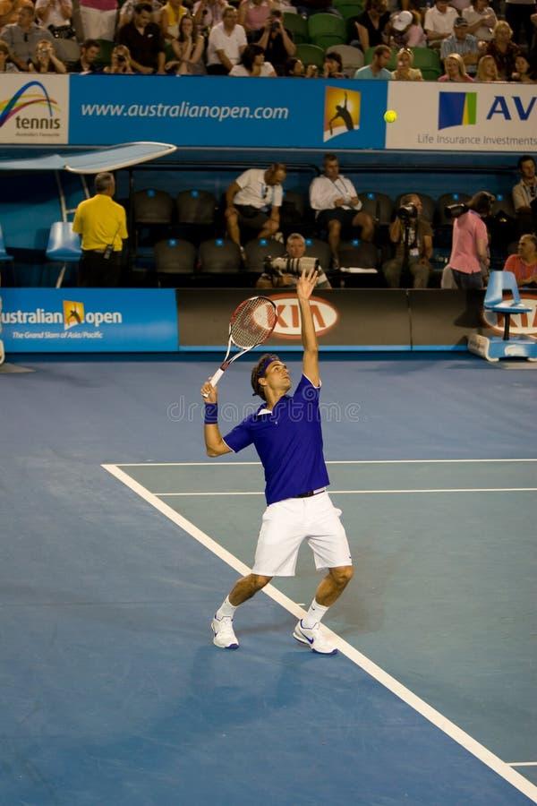 Jugador de tenis Roger Federer imagen de archivo