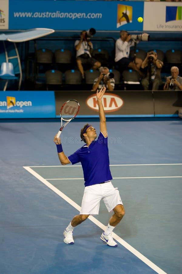 Jugador de tenis Roger Federer imagen de archivo libre de regalías