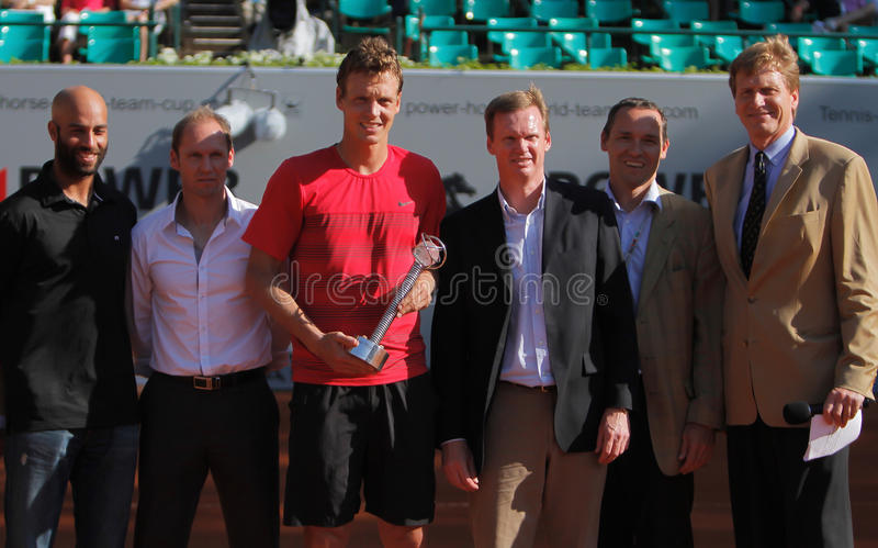 Jugador de tenis Tomas Berdych foto de archivo libre de regalías