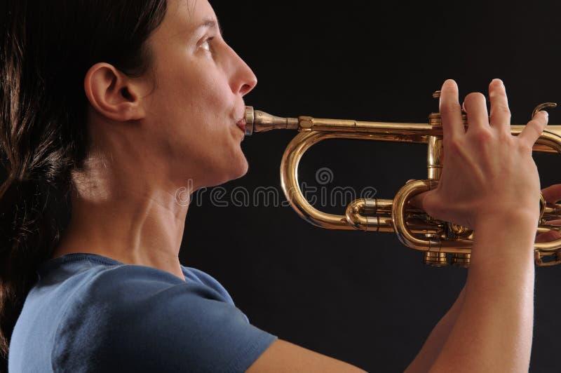 Jugador de trompeta imágenes de archivo libres de regalías