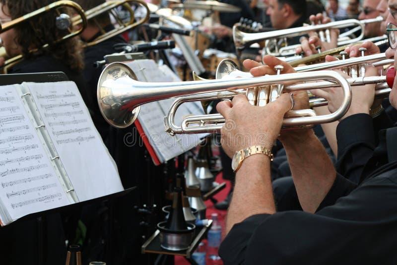 Jugador de trompeta imagen de archivo libre de regalías