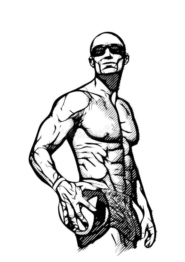 Jugador de voleibol de playa imagen de archivo