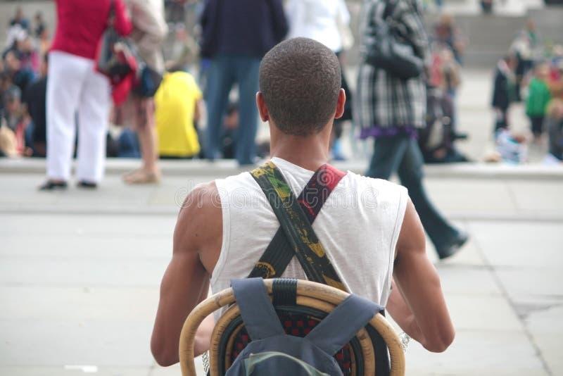 Jugador del bongo fotografía de archivo