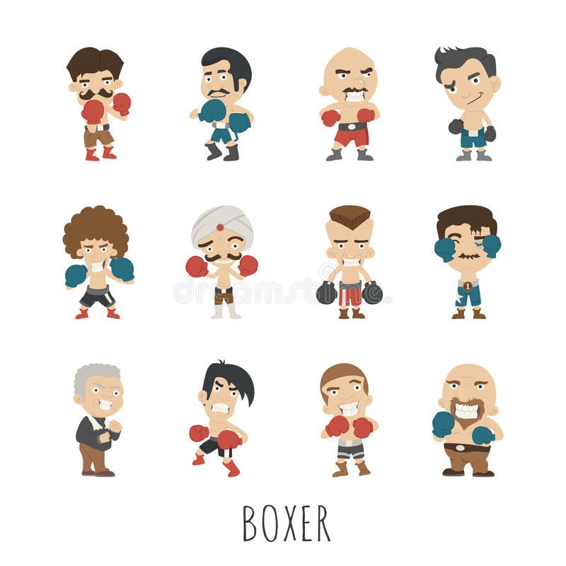 Jugador del boxeo stock de ilustración