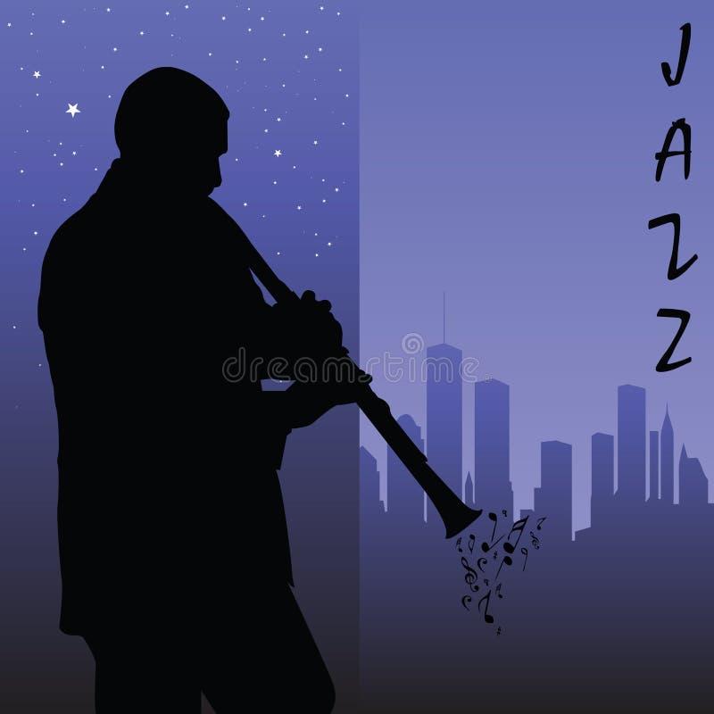 Jugador del Clarinet stock de ilustración