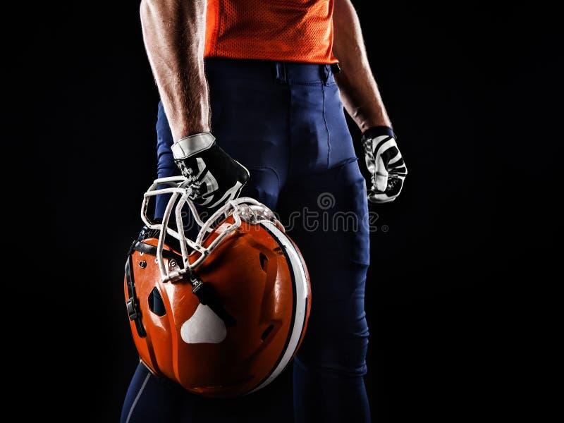 Jugador del deportista del fútbol americano imagen de archivo libre de regalías