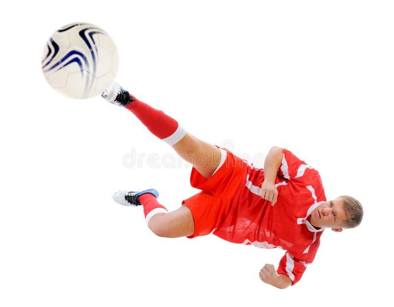 Jugador del futbolista foto de archivo
