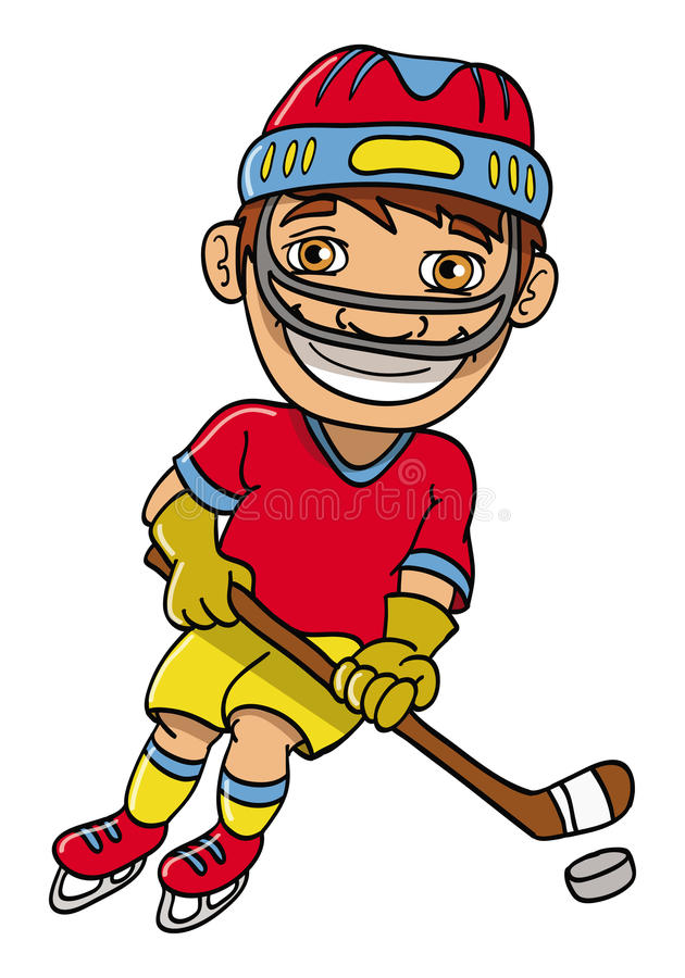 Jugador del hockey sobre hielo ilustración del vector