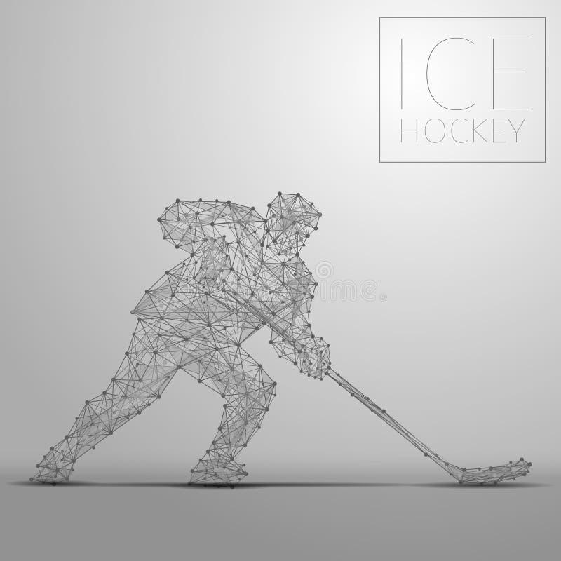 Jugador del hockey sobre hielo libre illustration