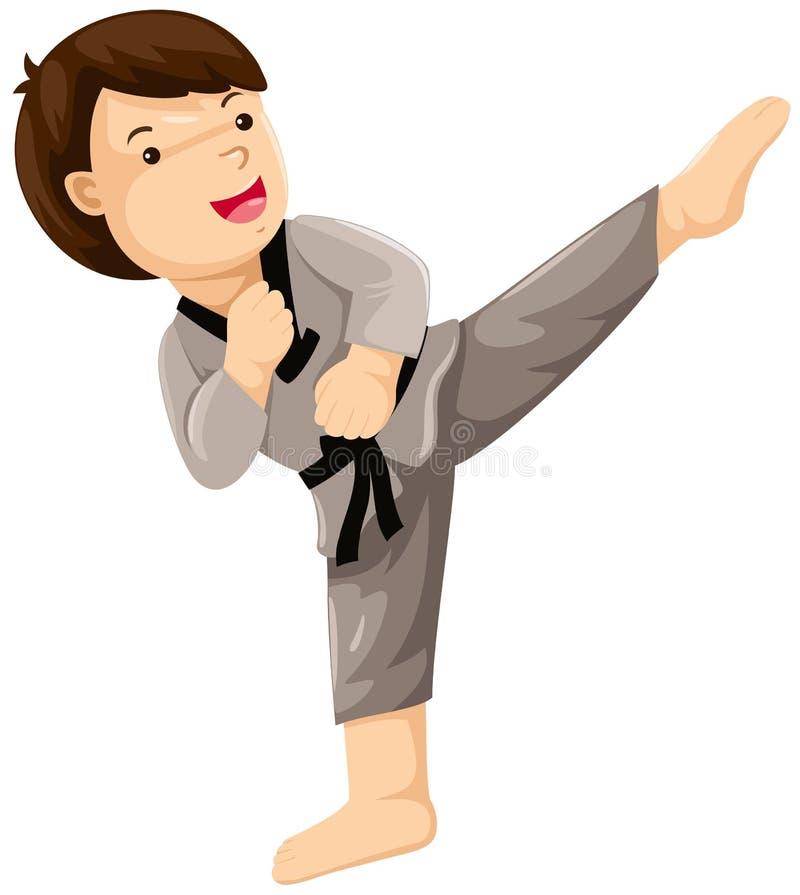 Jugador del karate libre illustration