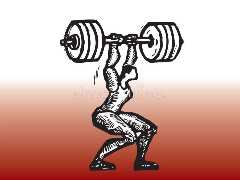 Jugador del levantamiento de pesas libre illustration