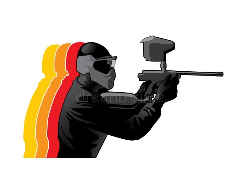 Jugador del Paintball libre illustration