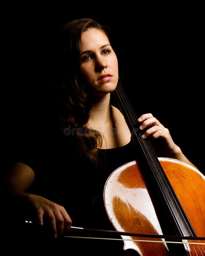 Jugador del violoncelo foto de archivo
