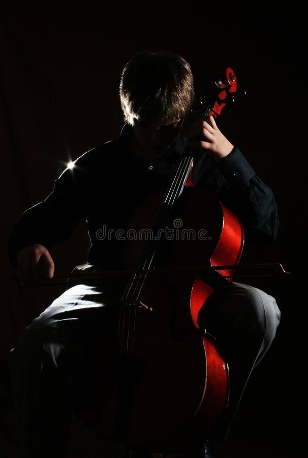 Jugador del violoncelo foto de archivo libre de regalías
