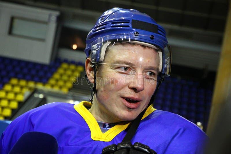 jugador Ruslan Fedotenko del Hielo-hockey de Ucrania foto de archivo libre de regalías