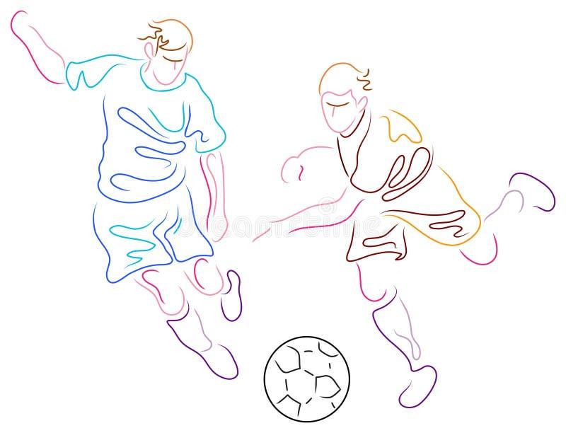 Jugadores ilustración del vector