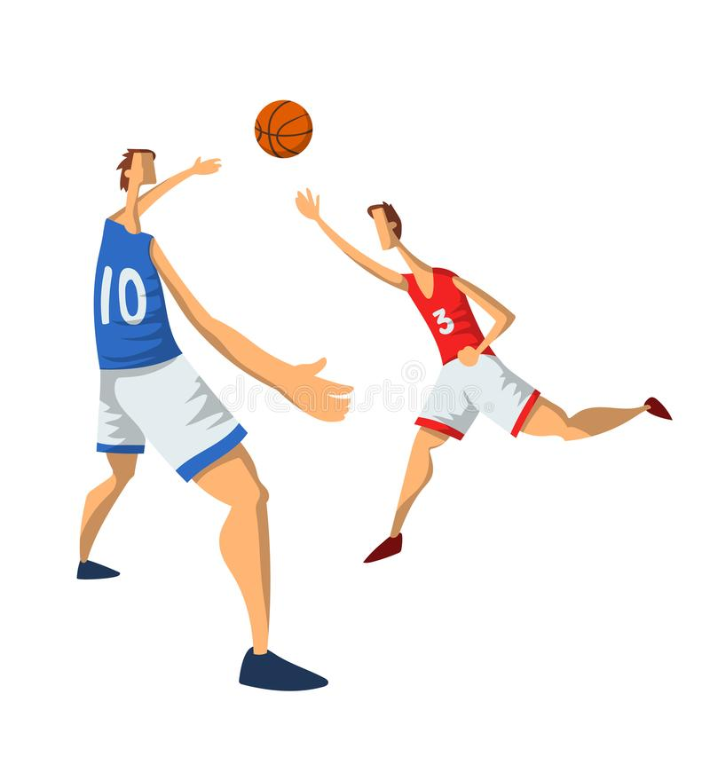 Jugadores De Básquet En Estilo Plano Abstracto Hombres Que Juegan ...
