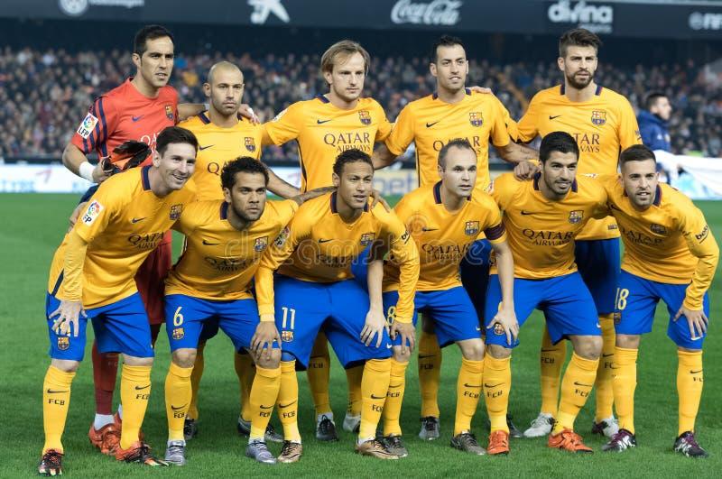 Jugadores de Barcelona fotografía de archivo libre de regalías