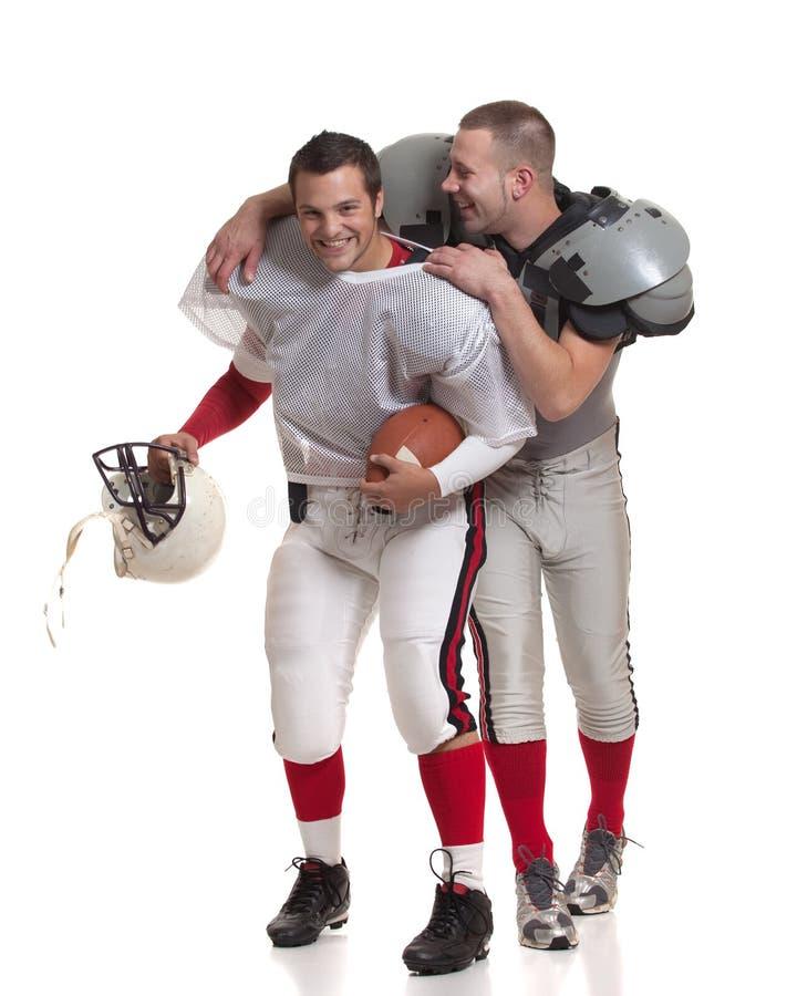 Jugadores de fútbol americano. imagenes de archivo