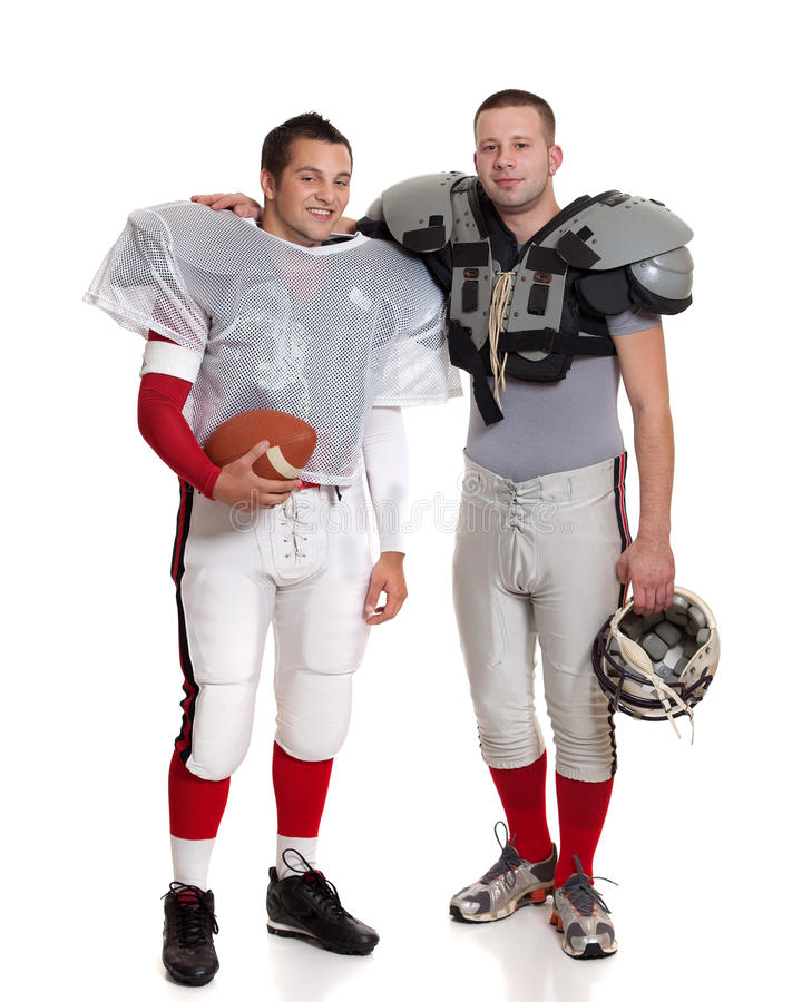 Jugadores de fútbol americano. imagen de archivo libre de regalías