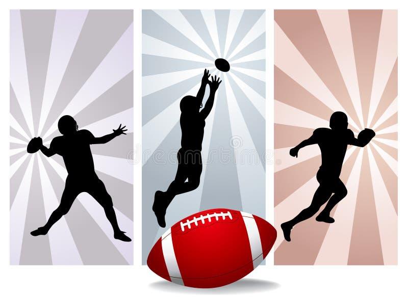 Jugadores de fútbol americano stock de ilustración