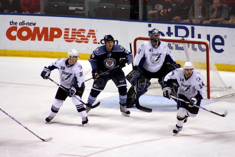Jugadores de hockey del NHL foto de archivo libre de regalías