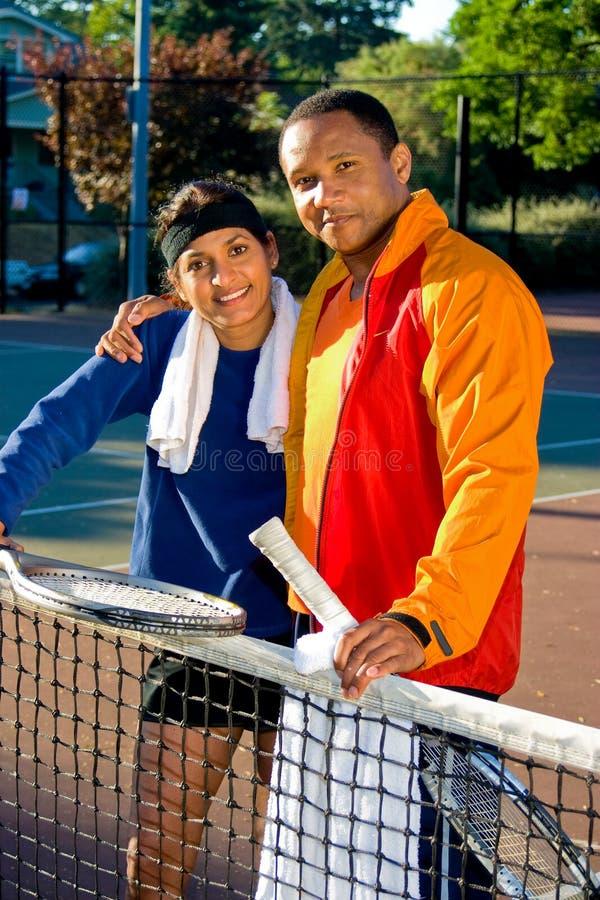 Jugadores de tenis foto de archivo libre de regalías
