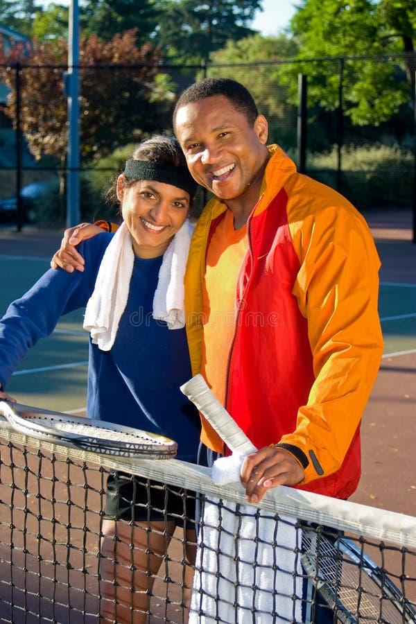 Jugadores de tenis imagen de archivo libre de regalías