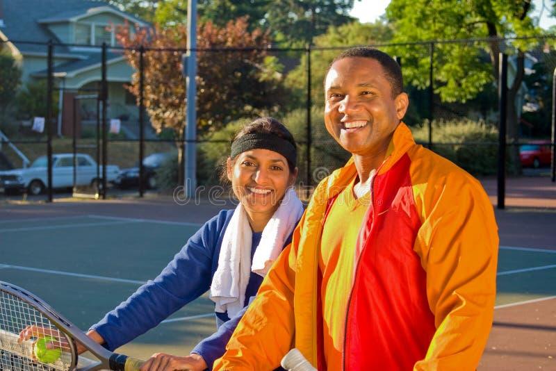 Jugadores de tenis foto de archivo
