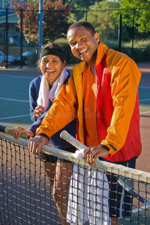 Jugadores de tenis fotografía de archivo libre de regalías