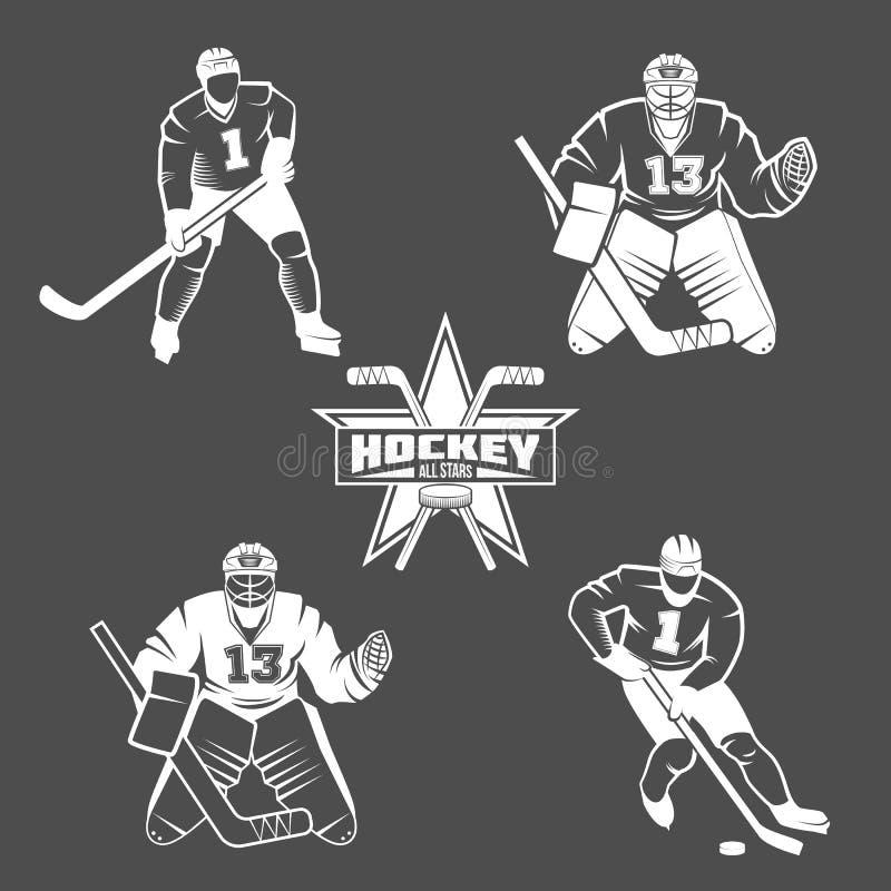 Jugadores del hockey sobre hielo ilustración del vector