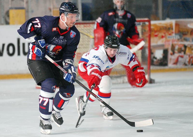 Jugadores del hockey sobre hielo fotografía de archivo