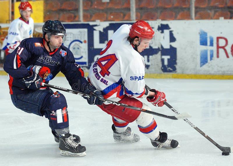 Jugadores del hockey sobre hielo foto de archivo libre de regalías